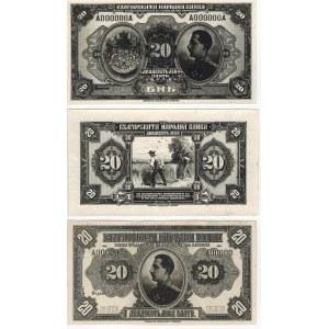 Bulgaria 20 Leva Zlato 1921 Proof Specimen