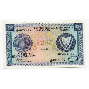 Cyprus 250 Mils 1982