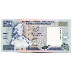 Cyprus 20 Pounds 2001