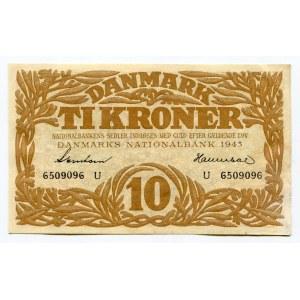 Denmark 10 Kroner 1943