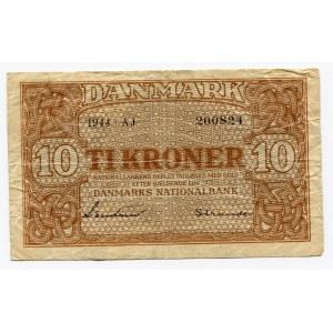 Denmark 10 Kroner 1944