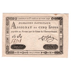 France 5 Livres 1792