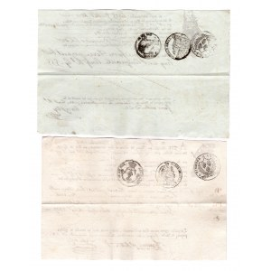 France 2 Customs Documents 1818 - 1820