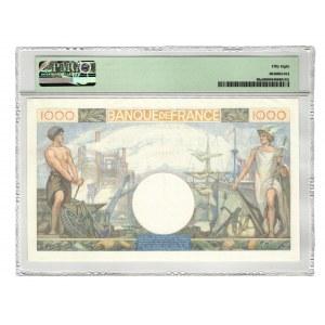 France 1000 Francs 1940 PMG 58