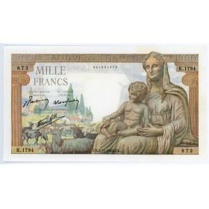 France 1000 Francs 1942