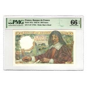 France 100 Francs 1944 PMG 66 EPQ