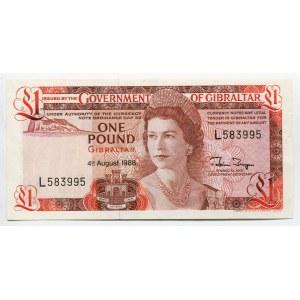 Gibraltar 1 Pound 1988
