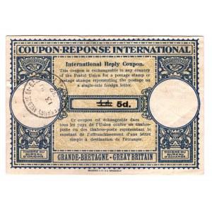 Great Britain Coupon Reponse International 5d 1932