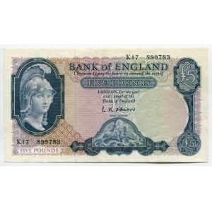 Great Britain 5 Pounds ND 1957 - 1961