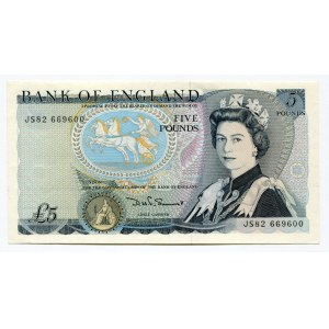 Great Britain 5 Pounds 1980 - 1987