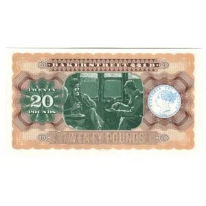 Great Britain The Bank of London 20 Pounds 2016 Souvenir