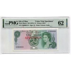 Isle of Man 1 Pound 1972 (ND) Specimen PMG 62