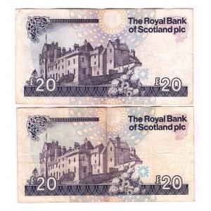 Scotland 20 Pounds 1993 - 1999 2 Pieces