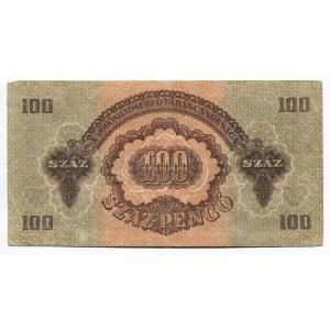Hungary 100 Pengo 1944 Soviet Army Occupation - WWII