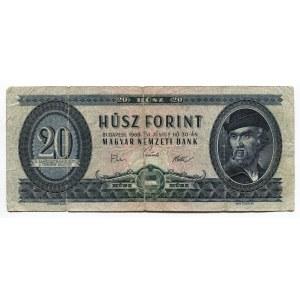 Hungary 20 Forint 1969 Hungarian National Bank