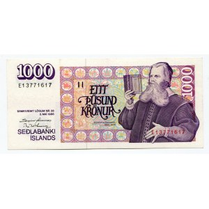 Iceland 1000 Kronur 1986