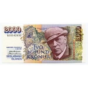 Iceland 2000 Kronur 1986