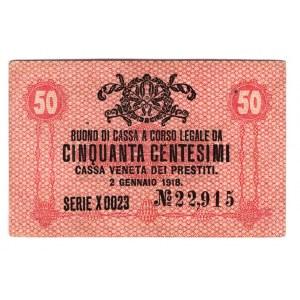 Italy 50 Centesimi 1918