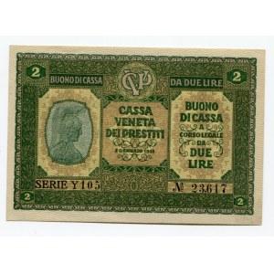 Italy 2 Lire 1918