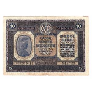 Italy 10 Lire 1918