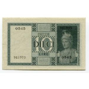 Italy 10 Lire 1939