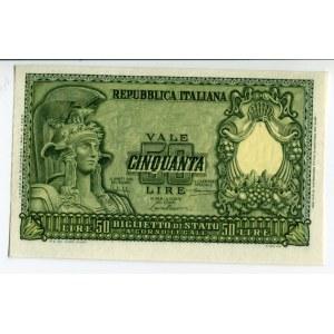 Italy 50 Lire 1951