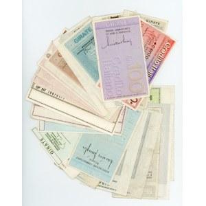 Italy Lot of 38 Notgelds 1976 - 1977