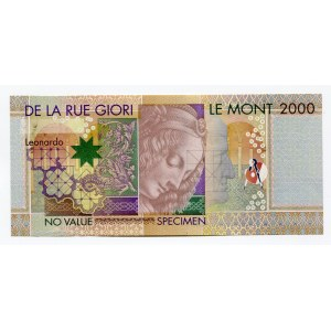 Italy De La Rue Giori 2000 Lire