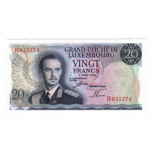 Luxembourg 20 Francs 1966