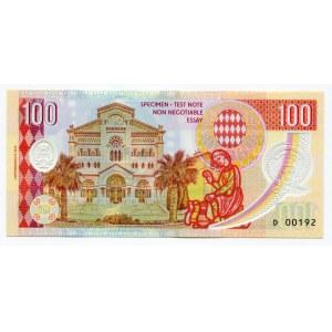 Monaco 100 Francs 2019 Specimen Grace Kelly