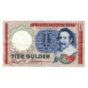 Netherlands 10 Gulden 1953