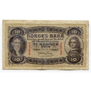 Norway 10 Kroner 1942