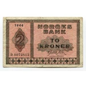 Norway 2 Kroner 1944