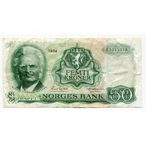 Norway 50 Kroner 1974