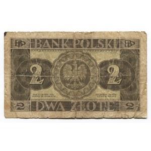 Poland 2 Zlote 1936 Bank Polsky
