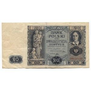 Poland 20 Zlotych 1936 Bank Polsky