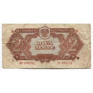 Poland 2 Zlote 1944 Polish National Bank