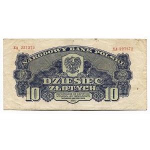 Poland 10 Zlotych 1944 Polish National Bank