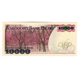 Poland 10000 Zlotych 1987 Single Letter