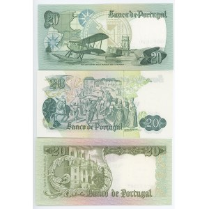 Portugal 3 x 20 Escudos 1964 - 1978