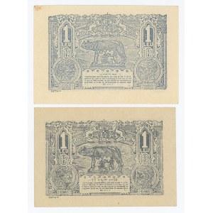 Romania 2 x 1 Leu 1916 & 1920
