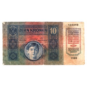 Romania Austrian Occupation 10 Kronen 1919