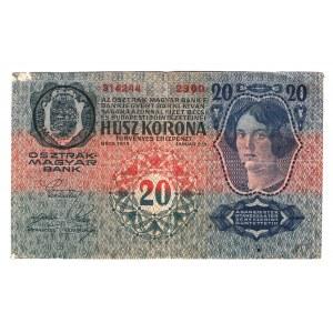 Romania Austrian Occupation 20 Kronen 1919