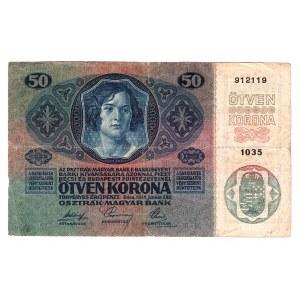 Romania Austrian Occupation 50 Kronen 1919