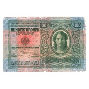 Romania Austrian Occupation 100 Kronen 1919