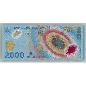 Romania Original Bundle with 100 Banknotes 2000 Lei 1999 Consecutive Numbers