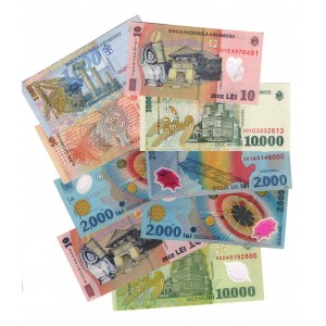 Romania 9 Different Banknotes 1999 - 2010