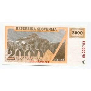 Slovenia 2000 Tolarjev 1991