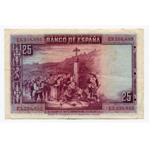 Spain 25 Pesetas 1928