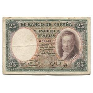 Spain 25 Pesetas 1931